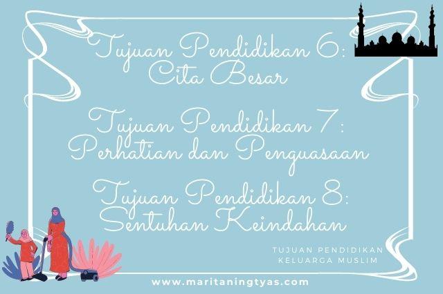 tujuan pendidikan keluarga muslim memiliki cita besar, perhatian dan sentuhan keindahan