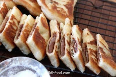 خبز محشي نوتيلا روعة