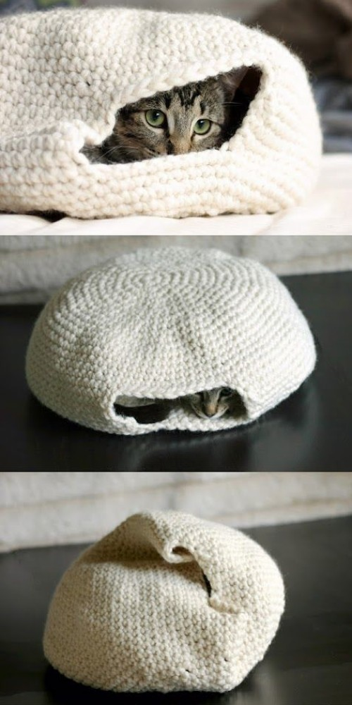DIY Crochet Cat Bed - Tutorial