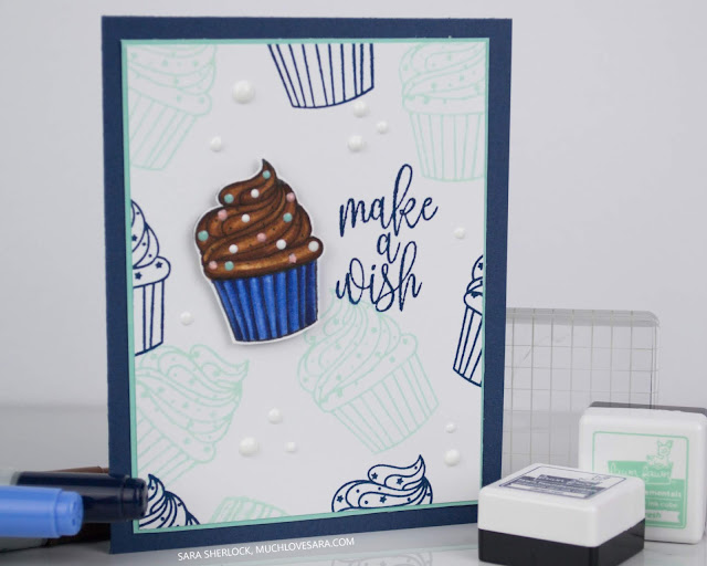Sweet, and easy, birthday card created using the Gina K Designs Make a Wish stamp set.