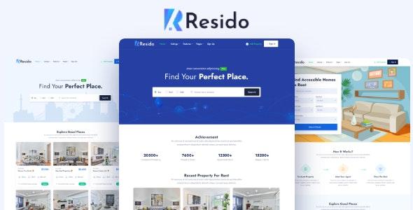 Resido Real Estate Responsive HTML Template