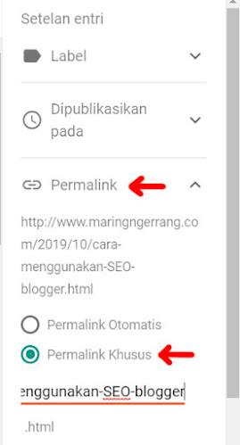 Cara Membuat Artikel SEO di Blogger