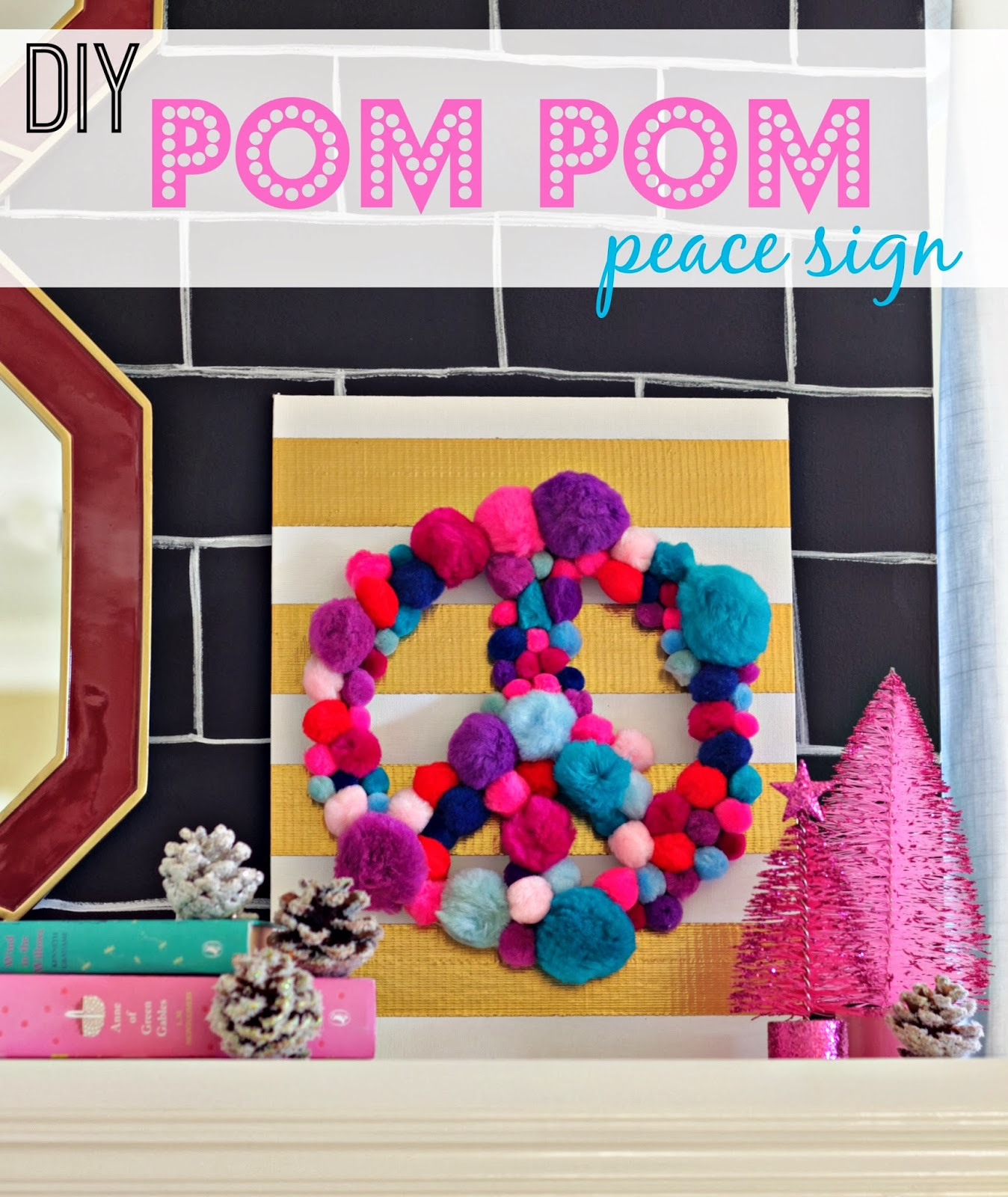 Peace Sign Bedroom Pom Pom Crafts Our Fifth House