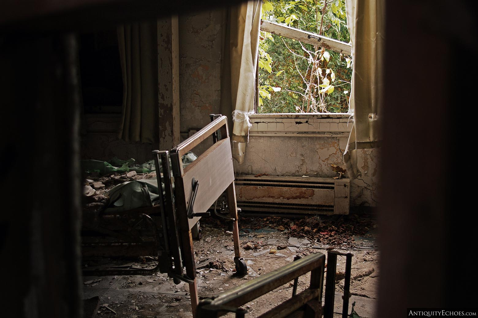 Brownsville General Hospital - A Bed Rests in Shadow