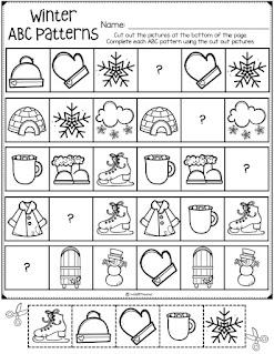 Winter patterns worksheet