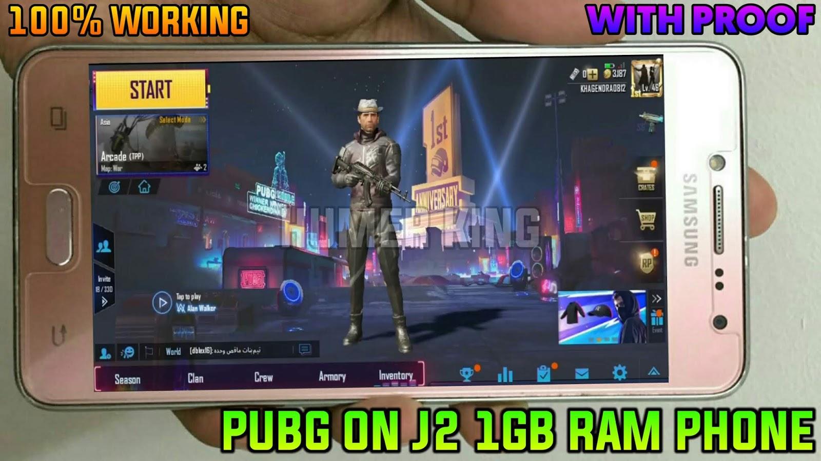 PLAY PUBG ON J2 1GB RAM PHONE 100% WORKING - HUMER KING