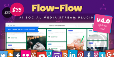 Flow-Flow plugin–Grabber Content from Social Networks for WordPress