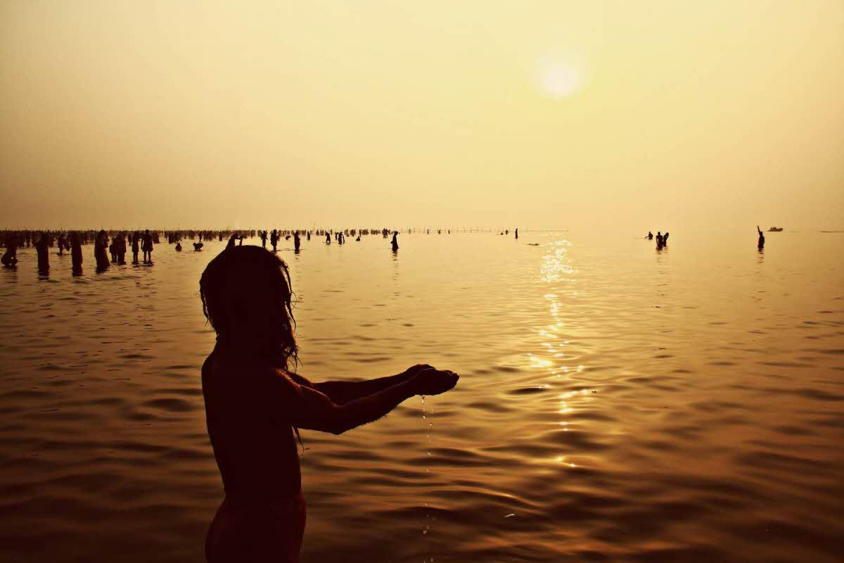 Makar Sankranti  - holy dip in sacred rivers