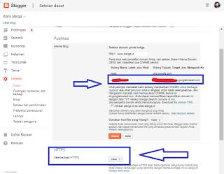 settingan blogger untuk cloudflare