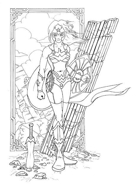 Lineart Wonder Woman par Juju Gribouille