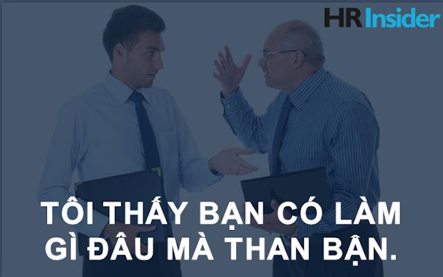 7 câu nói cấm kỵ trong văn phòng