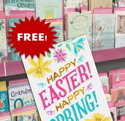 free Hallmark easter cards at cvs this week