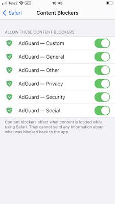 Safari content blockers