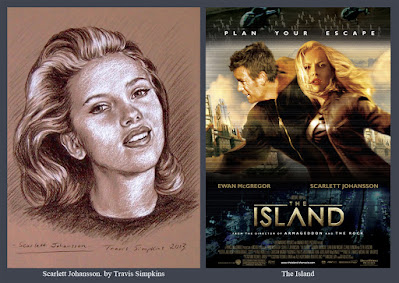 Scarlett Johansson. Actress and Singer. The Island. by Travis Simpkins