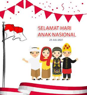 kartu ucapan hari anak nasional