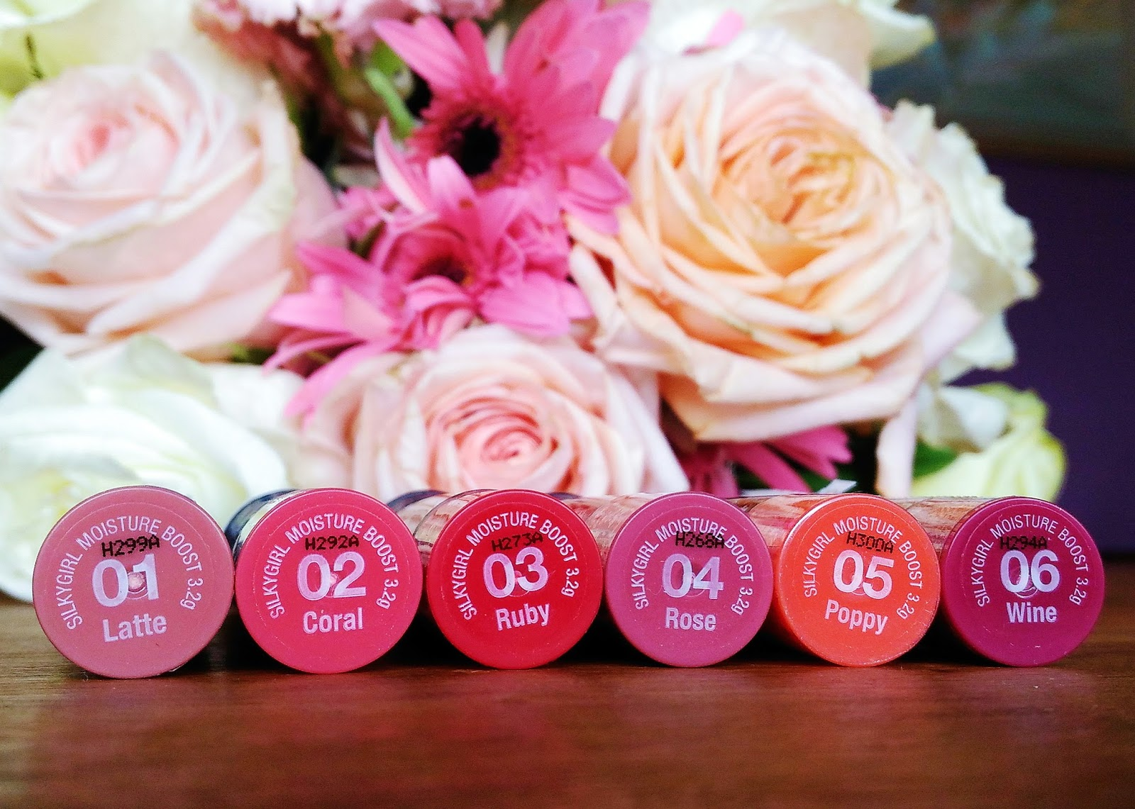 Silkygirl Moisture Boost Lipcolor Balm 03 Ruby Daftar Harga Smooth Lip Color Simply Pink Source All Shades 01 Latte 02 Coral 04 Rose 05