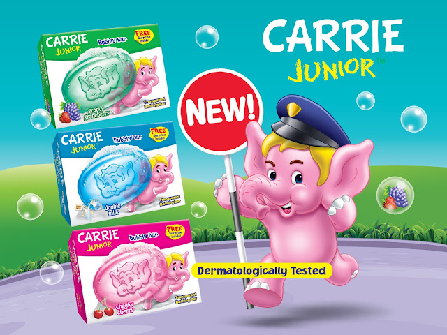 Carrie Junior Bubbly Bar Brings Greater Bath Time Fun.Carrie Junior Bubbly Bar, Carrie Junior Bar Soap,