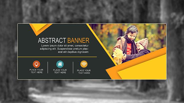 Cara membuat Banner dengan photoshop   Abstract Banner ...