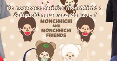 kiki Monchhichi nouveauté dream pocket chimutan tee shirt sac vestes