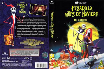 Carátula dvd: Pesadilla antes de Navidad