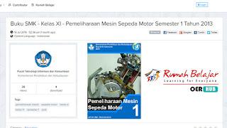 Rumah Belajar Review Konten Buku Pemeliharaan Mesin Sepeda Motor Bilal Iswanto