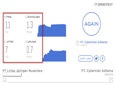 test speed internet android