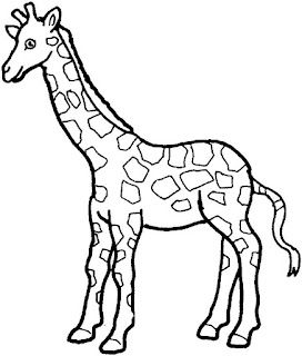 Simple Giraffe Coloring Pages For Print