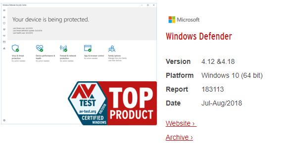 Windows Defenfer - Ένα από τα καλύτερα δωρεάν Antivirus