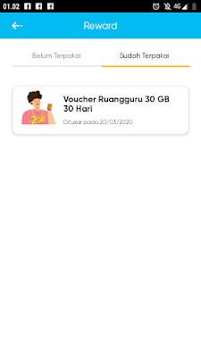 Cara mendapatkan kuota Ruangguru By.U 30 GB