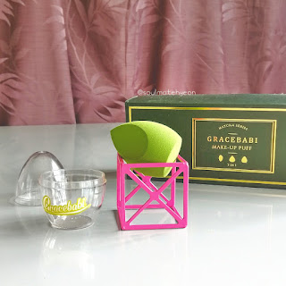 Gracebabi Matcha Series Make-Up Puff 3-in-1