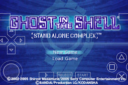 Ghost in The Shell Stand Alone Complex psp iso/cso + Save data 100% Complete