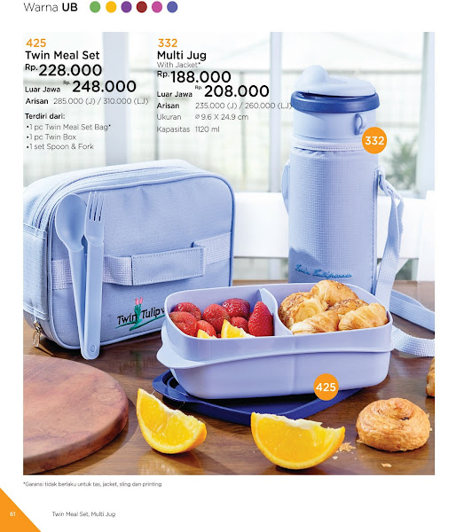 Twin Meal Set, Multi Jug, Katalog Tulipware 2019