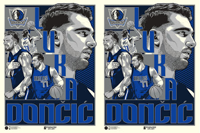 Dallas Mavericks Luka Doncic Screen Print by Fitz x Phenom Gallery