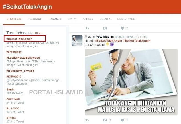 Tagar BoikotTolakAngin Jadi Trend di Twitter, Tolak Angin Tak Perpanjang Kontrak Iklan Ernest