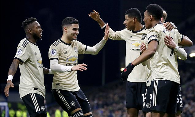 Video Cuplikan Gol: Burnley 0-2 Manchester United (Premier League)