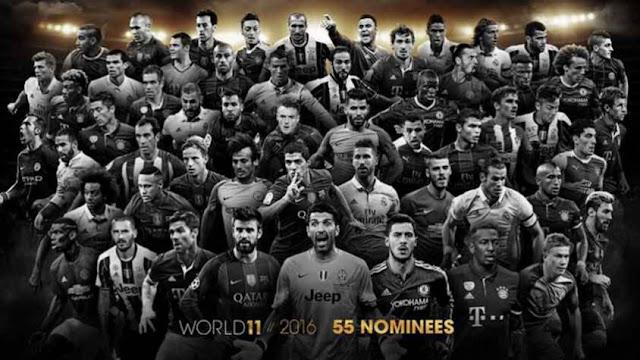 Conheça os indicados ao time do ano de 2016 da FIFA