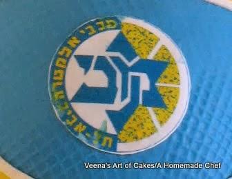 A close up of a team logo