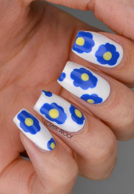 Marimekko Blue Flower Nail Art
