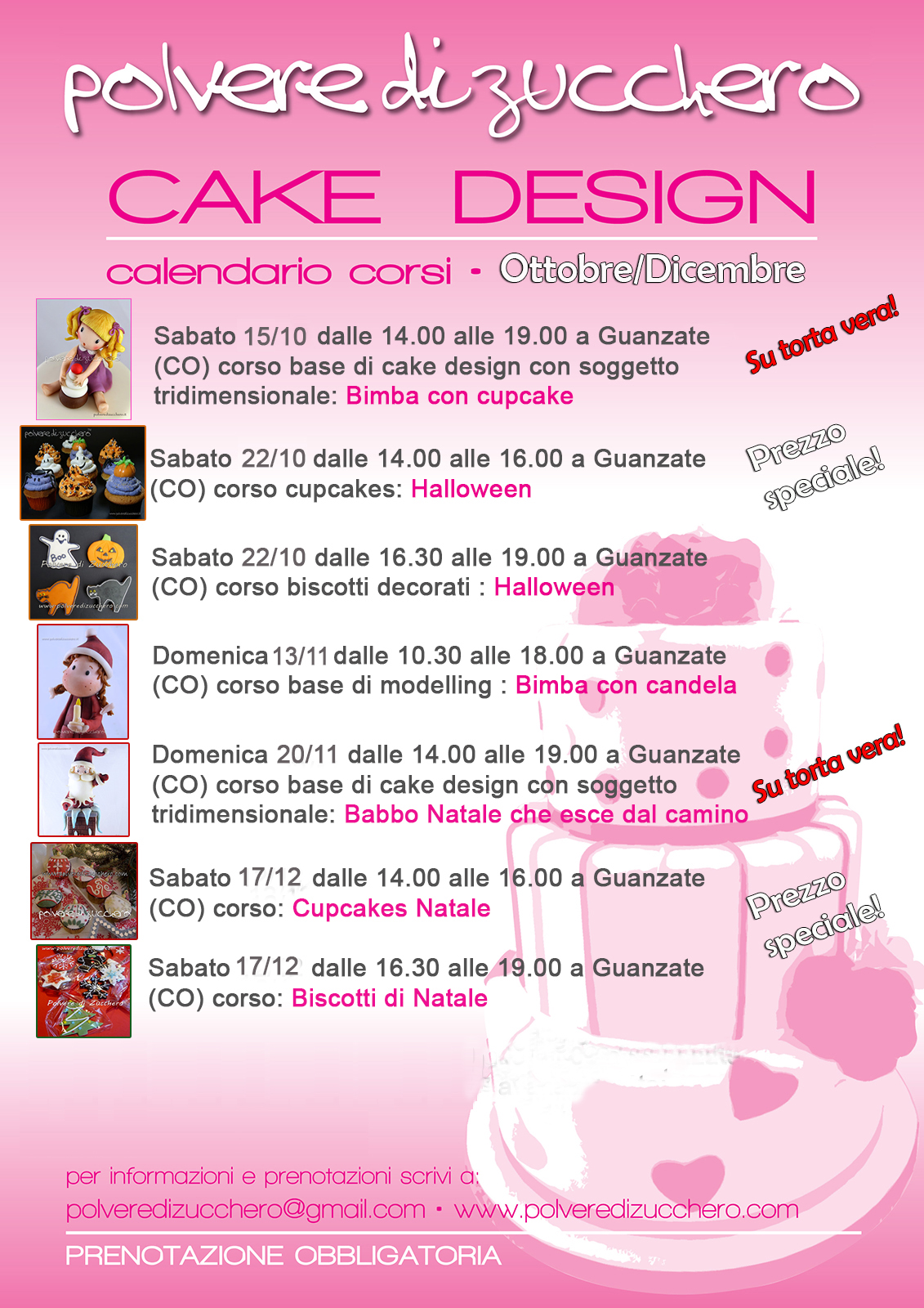 calendario corsi cake design sugar art pasta di zucchero torte decorate biscotti decorati cupcake