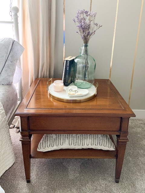 how to decorate night stands and side tables