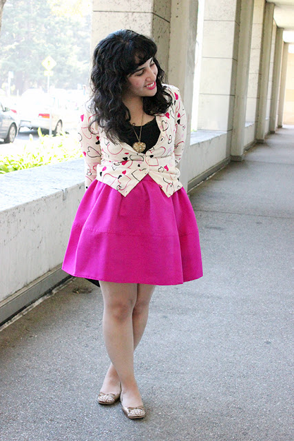 Valentine's Day Style Blogger Heart Print Outfit