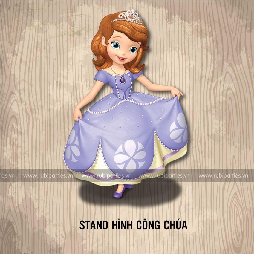 Stand hinh cong chua sinh nhat theo chu de Cong chua Sofia