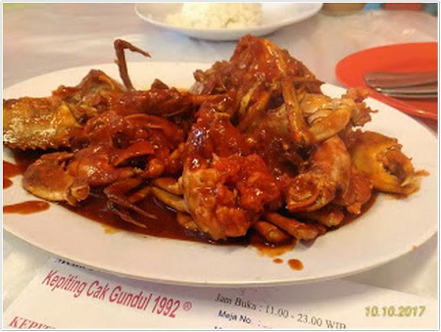 Kepiting Cak Gundul;10 Top Kuliner Pasuruan