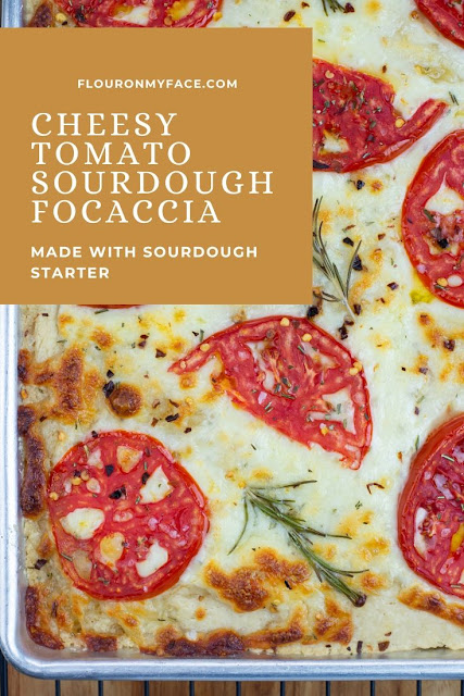 Cheese Tomato Sourdough Focaccia Bread Recipe