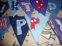 Birthday bunting flags