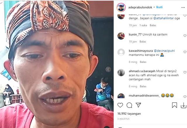 Ade Londok Tagih Umroh Ke Raffi Ahmad - IGadeprabulondok