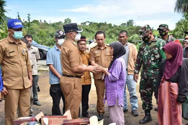 Plt Bupati Bener Meriah Tinjau Korban Kebakaran di Kecamatan PRG