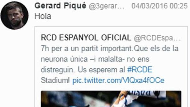 Gerard Piqué y el Espanyol vuelven a tenérselas en las redes