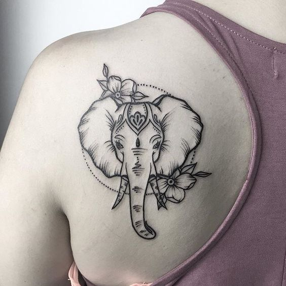 What is the meaning of an elephantine tattoo pattern?