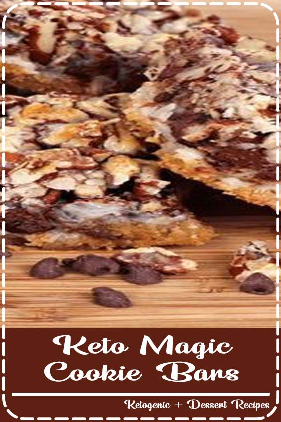 Layer Bars to the next levels with a Keto spin Keto Magic Cookie Bars